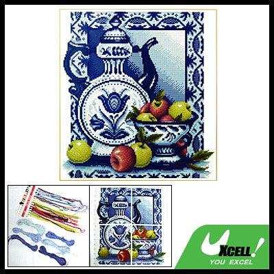 Porcelain & Fruit Counted Cross Stitch Cross-Stitch Kit