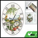 Time Wall Clock Counted Cross Stitch Cross-Stitch Kit
