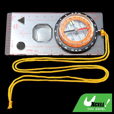 Map Magnifier Compass with Neck Strap