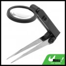 4X LED Illuminated Magnifier Tweezer Magnifying Glass