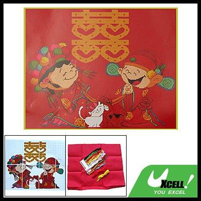 Romantic Chinese Style Wedding Counted Cross Stitch Kit