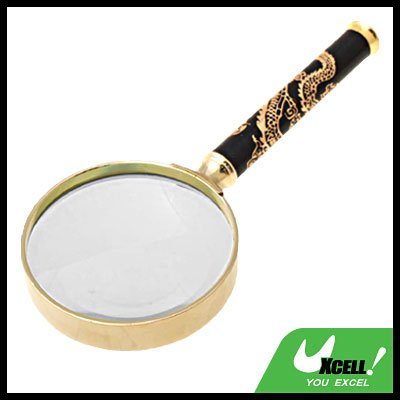 Golden Dragon 2X Pocket Metal Reading Magnifier Magnifying Glass