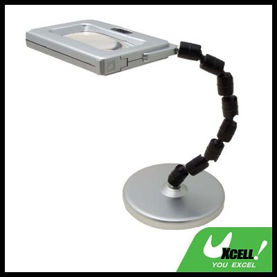 Rectangle 3 LED Magnifying Desk Lamp Magnifier Light