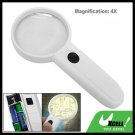 4X Hand Held Lighted Reading Map Magnifying Glass Magnifier