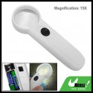 15X Lighted Magnifying Glass Hand Held Reading Map Magnifier