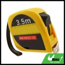 3.5M Retractable Pocket Tape Measure Rule Yellow