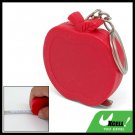Keychain Apple Shape Pocket Retractable Tape Measure Ruler