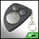 Portable 3-in-1 Mini Map Measurer Compass Thermometer Key Chain