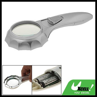 Illuminated Pocket LED Light 4X Reading Map Magnifier