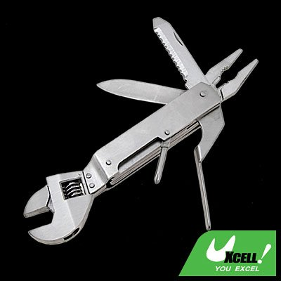 Swiss Army Style Set Folding Pliers And Adjustable Wrench Pouch
