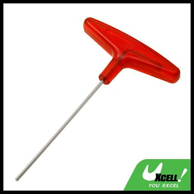 Metric Red T-Handle Hex Wrench Tool Size 2.5mm