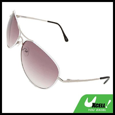 Purple Aviator Sunglasses in Metal Frame