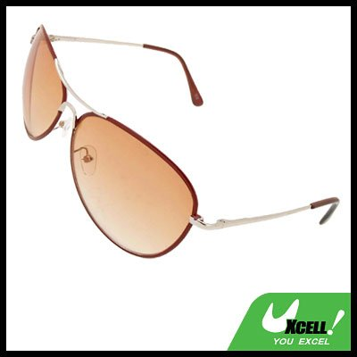 Orange Aviator  Metal Frame Unisex Women  Sunglasses