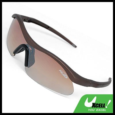 Cool Brown Frame Motorcycle Sport Men Sunglasses