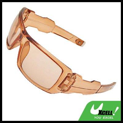 Transparent Brown Eye Wear Sport Men's Large Motorcycle Sunglasses