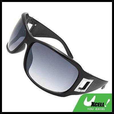 Lohan Black Oversize Men Motorcycle Sports Sunglasses