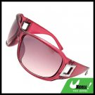Lohan Transparent Dark Purple Oversize Men Motorcycle Sunglasses