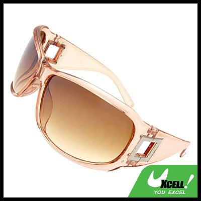 Lohan Transparent Light Brown Oversize Men Motorcycle Sunglasses
