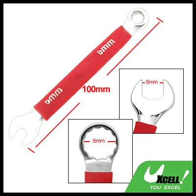 6MM Metric Soft Grip Open Box End Combination Wrench Tool