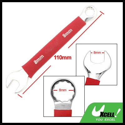 Soft Grip Open Box End 8MM Metric Combination Wrench Tool