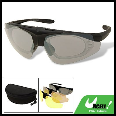 Sports Bicycle Motorcycle Interchangeable Sunglasses with 3 Lens