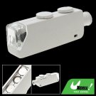 White Illuminated Lighted 160X-200X Microscope Magnifier