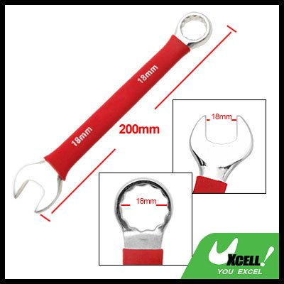 Soft Grip 18MM Metric Combination Open Box End Wrench Tool
