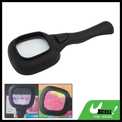 3X Reading Map Magnifier LED Switch Light Money Tester