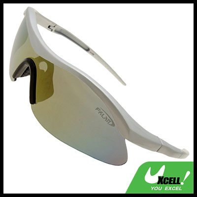 Man's Silvery Frame Tinted Lens Golf Specific Sport Sunglasses