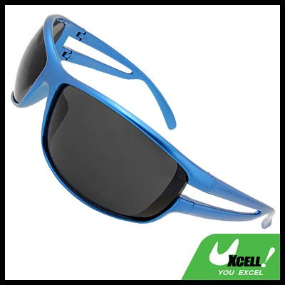 Holywood Shades Black Lens Blue Frame Sport Woman Sunglasses