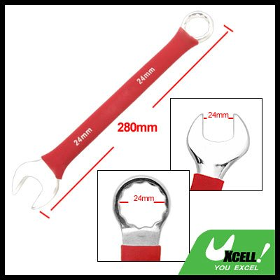 24MM Metric Soft Grip Open Box End Combination Wrench Handy Tool