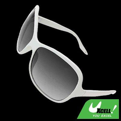 Girl Ladies Eyewear White Frame Sports Sunglasses