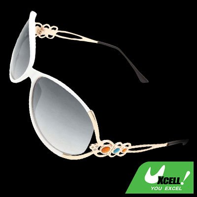 Eyewear White Frame Girl Sports Sunglasses