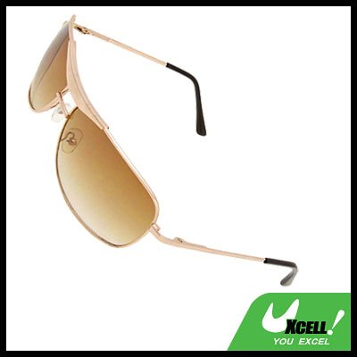 Golden Metal Frame Unisex Eyewear Girl Boy's Sports Sunglasses