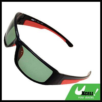 Polarized Sports Woman Man Sunglasses Black Frame Green Lens