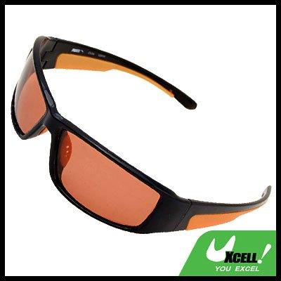 Black Frame w/Orange Polarized Sports Woman Sunglasses