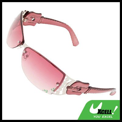 Stylish Flower Metal Frame Sports Girls Womans Sunglasses