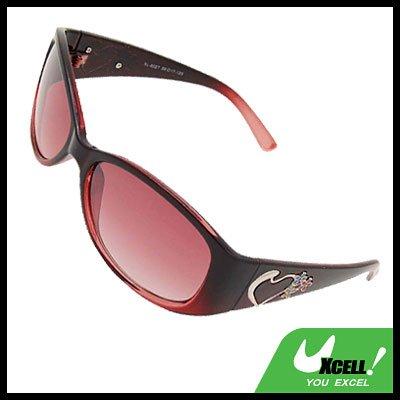 Stylish Heart Girls Womans Pink Sports Sunglasses