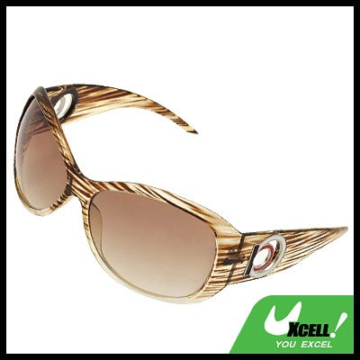 Amber Color Plastic Mens Women's Sports Sunglasses