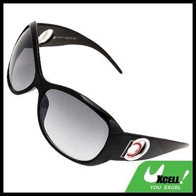 Black Plastic Unisex Men's Women's Sports Sunglasses