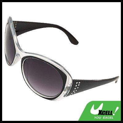 Black Round Plastic Men's Women's Sport Sunglasses