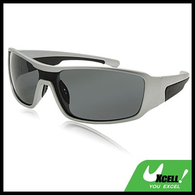 Polarized Sports Woman Man Sunglasses with Black Silver Frame