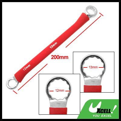 12mm 13mm Double Side Red Soft Grip Offset 12 Point Box End Wrench Tool
