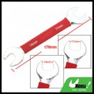 Soft Red Grip Dual Open End 14mm 17mm Wrench Tool