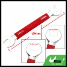 Dual Open End 12mm 13mm Wrench Tool with Soft Red Grip