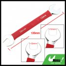 10mm 12mm Dual Open End Wrench Tool with Soft Red Grip