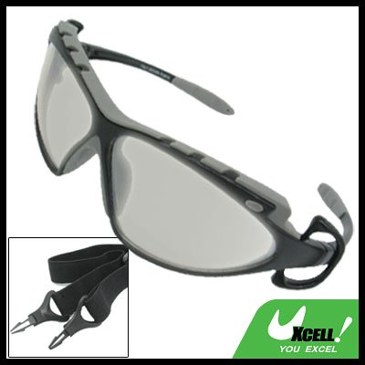 Sports Driving Sunglasses Gray Transparent Lens and Black Gray Frame