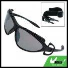 Sports Driving Sunglasses Black Transparent Lens and Black Frame