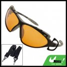 Sports Driving Sunglasses Amber Lens and Black Frame