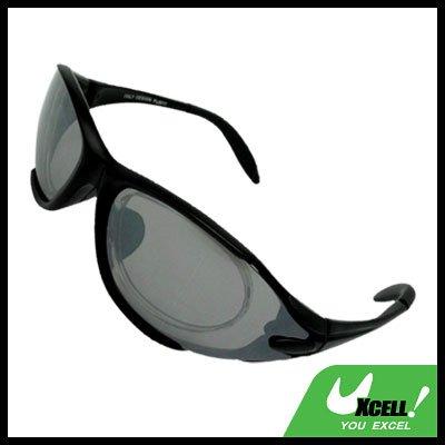 Sports Driving Sunglasses Gray Transparent Lens and Black Frame